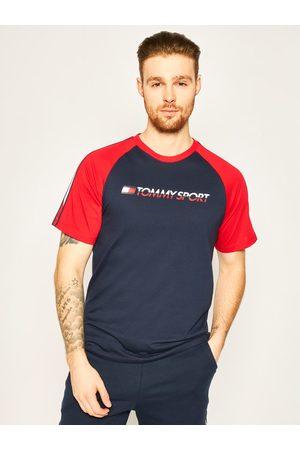 Tommy Sport T-Shirt Logo S20S200196 Granatowy Regular Fit