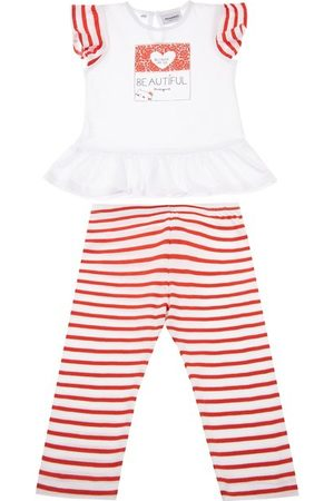Primigi Komplet t-shirt i legginsy I Love Red 43196571 Regular Fit