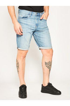 Mężczyzna Straight - Calvin Klein Jeans Szorty jeansowe J30J314641 Niebieski Regular Fit