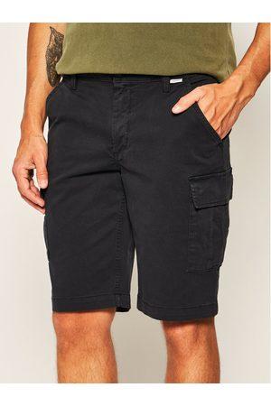 Mężczyzna Szorty - Calvin Klein Szorty materiałowe K10K105316 Granatowy Regular Fit