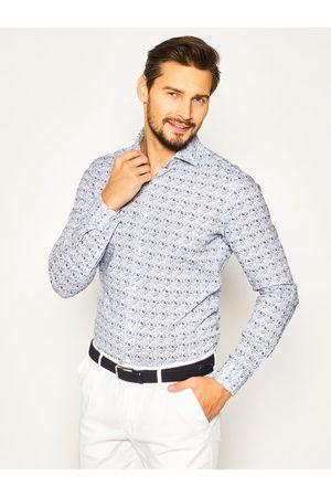 Strellson Koszula Sereno 30020162 Granatowy Slim Fit