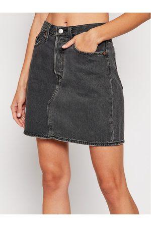 Levi's Kobieta Spódnice mini - Spódnica jeansowa Decon Iconic 77882-0018 Regular Fit