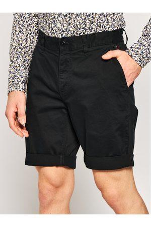 Mężczyzna Straight - Tommy Jeans Szorty materiałowe Tjm Essential Chino DM0DM05444 Czarny Regular Fit