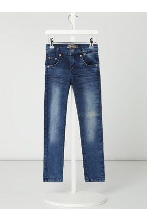 Blue Effect Jeansy o wąskim kroju ze szwami w kontrastowym kolorze