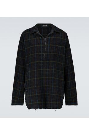 UNDERCOVER Mężczyzna Na co dzień - Half-zipped checked wool overshirt
