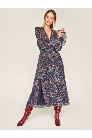 IRO Sukienka codzienna Kage AN101 Granatowy Regular Fit