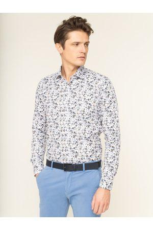 Mężczyzna Na co dzień - Emanuel Berg Koszula Mr.Crown PEB46678 Biały Slim Fit