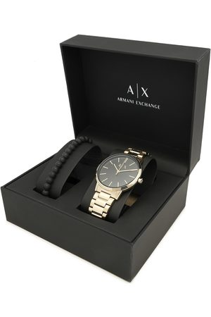Armani Mężczyzna Zegarki - Zegarek - Cayde Gift Set AX7119 Gold/Gold