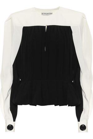Givenchy Silk-crêpe top
