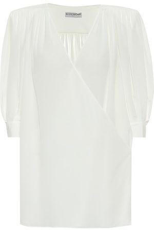 Givenchy Silk-crêpe de chine top
