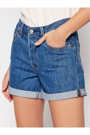 Levi's Szorty jeansowe 501® Flat Finish 29961-0021 Granatowy Regular Fit