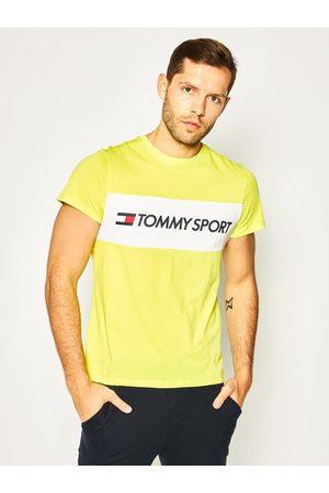 Tommy Sport Mężczyzna Koszulki polo - T-Shirt Colourblock Logo S20S200375 Regular Fit