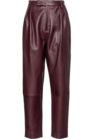 Khaite Kobieta Spodnie - Magdeline high-rise leather pants