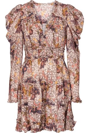 ULLA JOHNSON Julie floral cotton-blend minidress