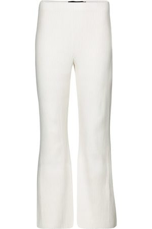 Proenza Schouler Ribbed-knit cropped flared pants