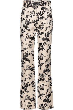 RODARTE Kobieta Z wysokim stanem - Floral straight-fit jeans