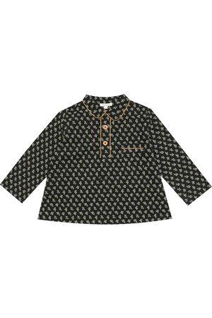 Caramel Blackbird floral stretch-cotton shirt