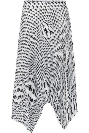Marine Serre Kobieta Spódnice z nadrukiem - Printed pleated midi skirt