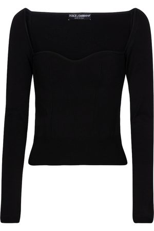 Dolce & Gabbana Sweetheart-neck sweater