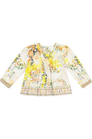 Camilla Embellished floral cotton top