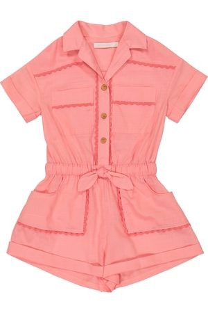 ZIMMERMANN Poppy cotton voile playsuit