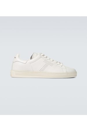 Tom Ford Warwick grained leather sneakers