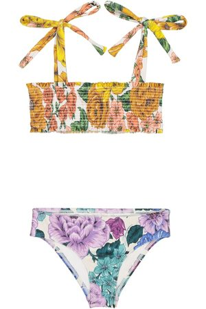 ZIMMERMANN Exclusive to Mytheresa – Poppy floral shirred bikini