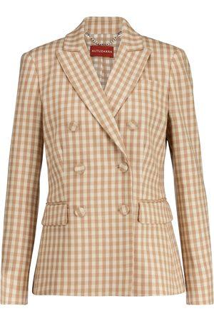 Altuzarra Kobieta Marynarki i Żakiety - Beatrix gingham wool-blend blazer