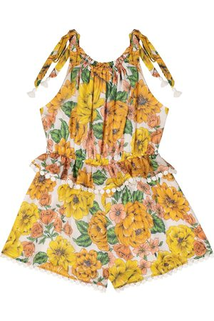 ZIMMERMANN Poppy floral cotton playsuit
