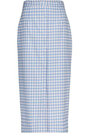 Altuzarra Lex gingham wool-blend pencil skirt