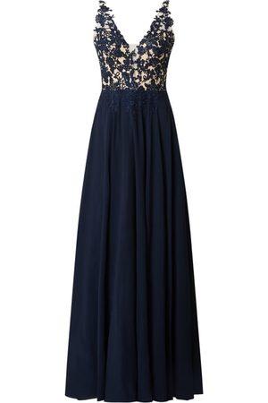 Luxuar Sukienka wieczorowa z koronką szydełkową