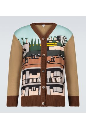 Loewe Ken Price LA Series silk paneled cardigan