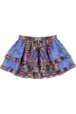 Camilla Dziewczynka Spódnice z nadrukiem - Embellished printed cotton-blend skirt
