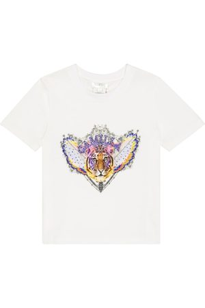 Camilla Embellished printed cotton T-shirt