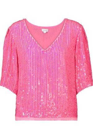 Velvet Karen sequined top