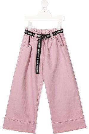 Andorine Dziewczynka Spodnie z szeroką nogawką - Pink
