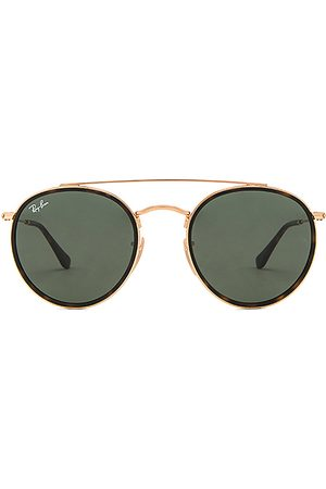 Ray-Ban Round Double Bridge in - Metallic Gold. Size all.
