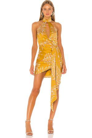Camila Coelho Antonia Mini Dress in - Yellow. Size S (also in XL, XS, XXS).