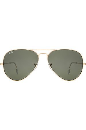 Ray-Ban Aviator Classic in - Metallic Gold. Size all.