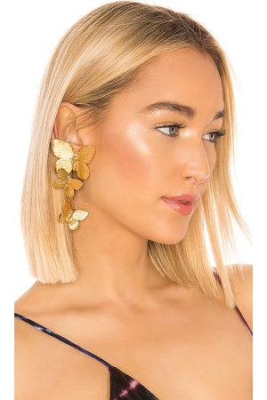 Jennifer Behr Alessandra Clip On Earrings in - Metallic . Size all.