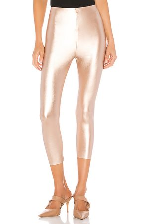 Commando Perfect Control Faux Leather Capri in - Metallic Gold. Size L (also in M, S).