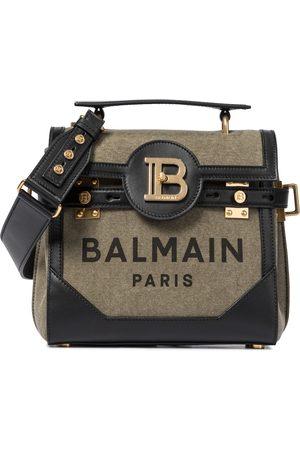 Balmain Kobieta Torebki na ramię - B-Buzz 23 Small leather-trimmed shoulder bag