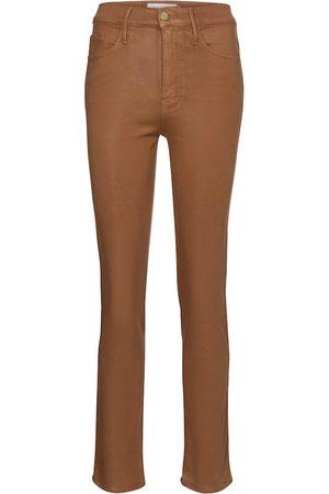 Frame Kobieta Skinny - Le Sylvie coated high-rise straight jeans