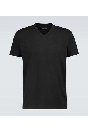 Tom Ford Marl jersey V-neck T-shirt