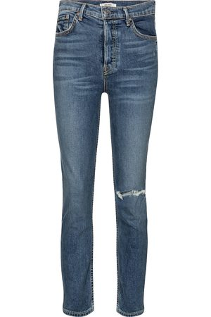 GRLFRND Reed high-rise cropped skinny jeans