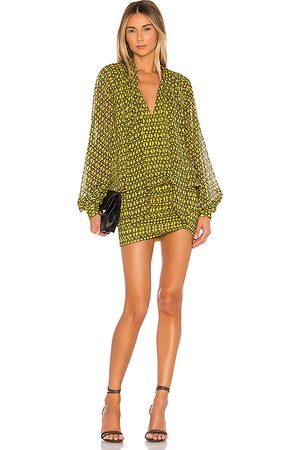 L'Academie The Maelle Mini Dress in - Yellow. Size S (also in XS, XXS).