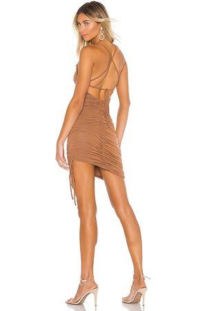 MAJORELLE Janice Mini Dress in - Brown. Size L (also in XL).