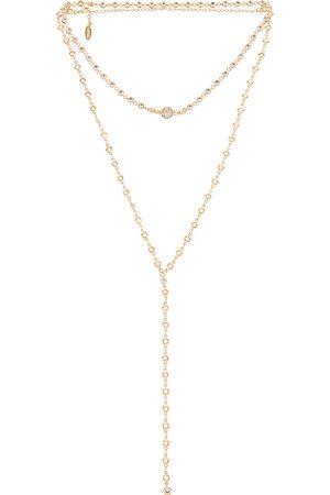 Ettika Layered Lariat Necklace in - Metallic . Size all.