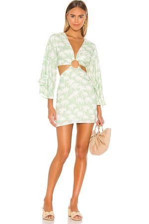 Lovers + Friends Kobieta Kimona - Maysa Kimono Dress in - Green. Size L (also in XXS, XS, S, M, XL).