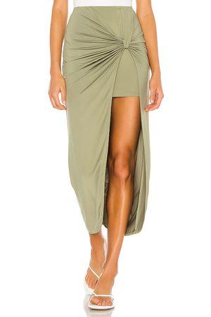 superdown Marie Midi Skirt in - Green. Size L (also in XXS, XS, S, M, XL).
